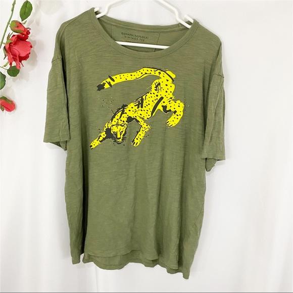 🐠Banana Republic Vintage Tee Cheetah Short Sleeve